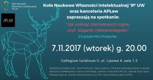 Zaproszenie na Kolo IP_internetowe rogi_wpis na FB_listopad 2017